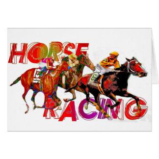 Action de course de chevaux carte de vœux