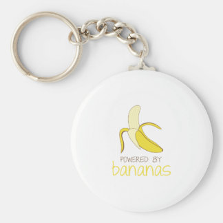 Actionné par des bananes porte-clé rond