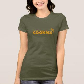 Actionné par des biscuits : Le T-shirt des femmes