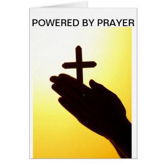 Actionné par des cartes de voeux de prière