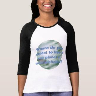 Activisme vert d'Eco de changement climatique de T-shirt