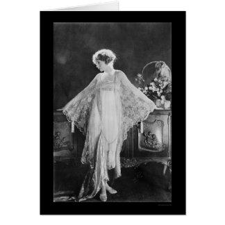 Actrice Lillian Gish 1922 Carte De Vœux