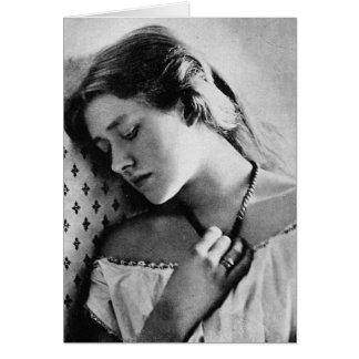 Actrice shakespearienne du ~ 1864 de dame Ellen Carte De Vœux