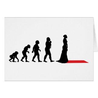 Actrice sur le tapis rouge carte de vœux