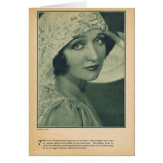 Actrice vintage de portrait de trémie de Hedda Carte De Vœux