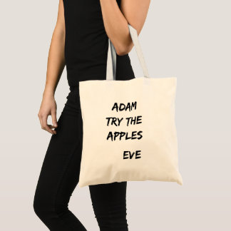 Adam, essayent les pommes. Sac fourre-tout à Ève