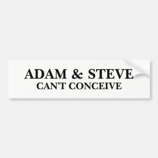 Adam et Steve Autocollant De Voiture