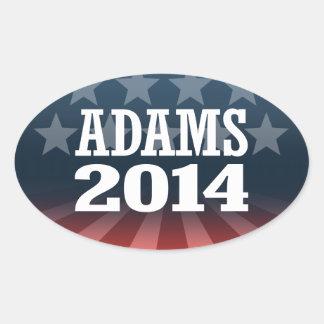 ADAMS 2014 AUTOCOLLANT OVALE