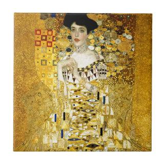 Adele Bloch-Bauer I par art Nouveau de Gustav Petit Carreau Carré