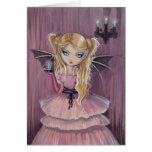 Adeline dans la carte gothique rose de vampire