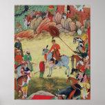 Adham Khan rendant hommage à Akbar chez Sarangpur, Affiches