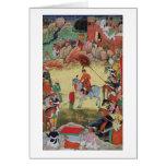 Adham Khan rendant hommage à Akbar chez Sarangpur, Carte De Vœux