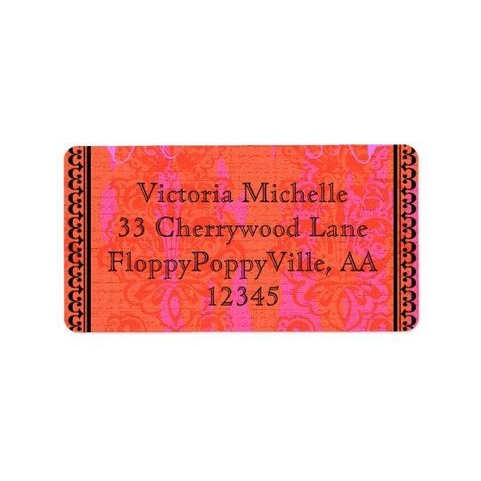 Adhésif élégant de Bachelorette de roses indien Étiquette D'adresse