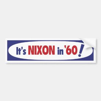 Adhésif pour pare-chocs 1960 de Nixon Autocollant De Voiture