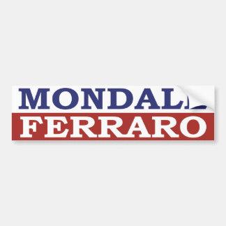 Adhésif pour pare-chocs 1984 de Mondale Autocollant Pour Voiture