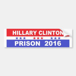 Adhésif pour pare-chocs 2016 de prison de Hillary Autocollant De Voiture