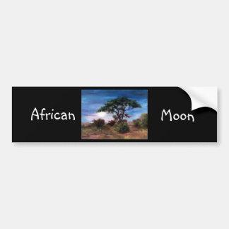 Adhésif pour pare-chocs africain de lune autocollant de voiture