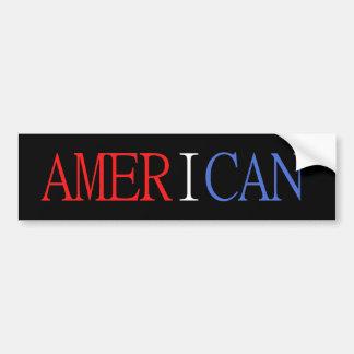 Adhésif pour pare-chocs américain autocollant de voiture