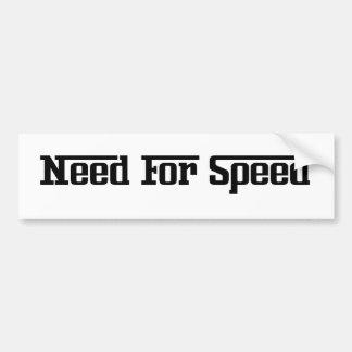 Adhésif pour pare-chocs - besoin de vitesse autocollant de voiture
