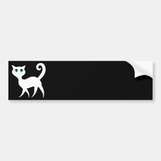 Adhésif pour pare-chocs blanc de chat autocollant de voiture