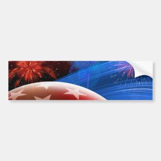 Adhésif pour pare-chocs blanc rouge d'étoiles bleu autocollant de voiture