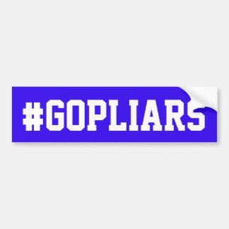 """Adhésif pour pare-chocs bleu avec le """"#GOPLIARS """" Autocollant Pour Voiture"""