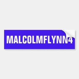 ADHÉSIF POUR PARE-CHOCS BLEU AVEC MALCOLMFLYNN4 AUTOCOLLANT POUR VOITURE