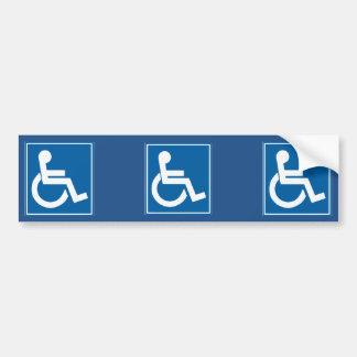 Adhésif pour pare-chocs bleu de signe d'handicap autocollant pour voiture