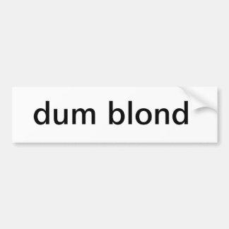 Adhésif pour pare-chocs blond muet autocollant pour voiture