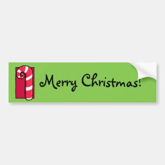 Adhésif pour pare-chocs bouclé de Noël de vert de  Autocollant De Voiture