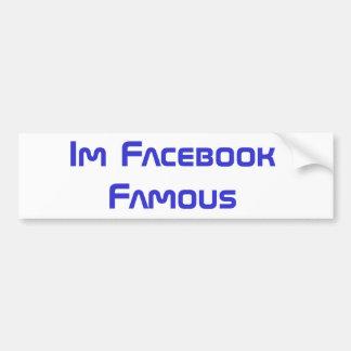Adhésif pour pare-chocs célèbre de Facebook Autocollant Pour Voiture