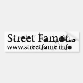 Adhésif pour pare-chocs célèbre de rue autocollants pour voiture