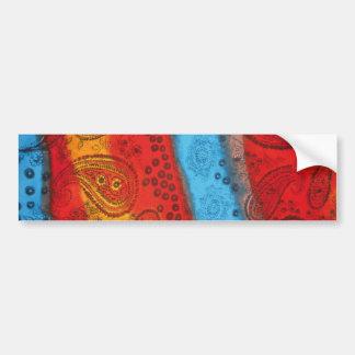 Adhésif pour pare-chocs coloré frais de tissu autocollant de voiture