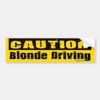 Adhésif pour pare-chocs conduisant blond autocollant de voiture