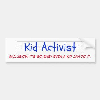 Adhésif pour pare-chocs d'activiste d'enfant autocollant de voiture