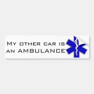 Adhésif pour pare-chocs d'ambulance autocollant pour voiture