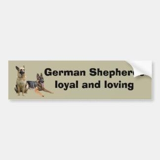 Adhésif pour pare-chocs d'amis de berger allemand autocollant pour voiture