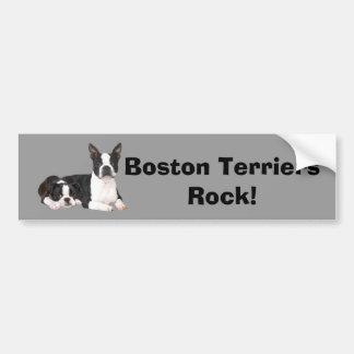 Adhésif pour pare-chocs d'amis de Boston Terrier Autocollant De Voiture