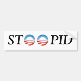 Adhésif pour pare-chocs d'Anti-Obama STOOPID Autocollant De Voiture