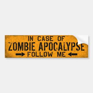 Adhésif pour pare-chocs d'apocalypse de zombi autocollant de voiture