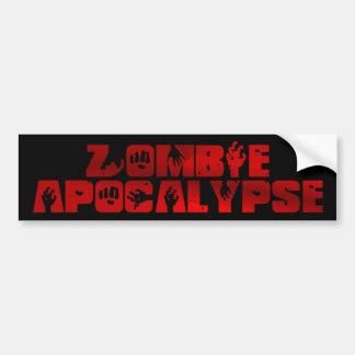Adhésif pour pare-chocs d'apocalypse de zombi autocollant pour voiture