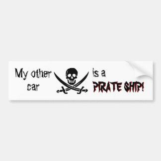 Adhésif pour pare-chocs de bateau de pirate autocollant de voiture
