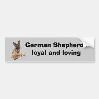 Adhésif pour pare-chocs de berger allemand autocollant de voiture