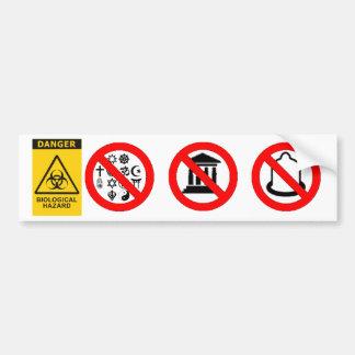 Adhésif pour pare-chocs de Biohazards de Memetic Autocollant Pour Voiture
