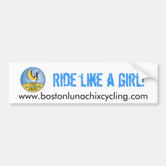 Adhésif pour pare-chocs de Boston LUNA Chix Autocollant Pour Voiture