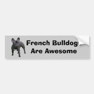 Adhésif pour pare-chocs de bouledogue français autocollant pour voiture