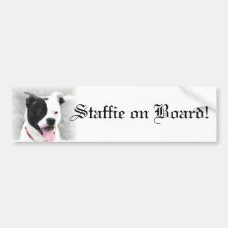 Adhésif pour pare-chocs de bull-terrier du Staffor Autocollant Pour Voiture