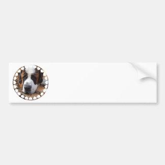 Adhésif pour pare-chocs de chien de St Bernard Adhésif Pour Voiture