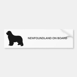 Adhésif pour pare-chocs de chien de Terre-Neuve, s Autocollant Pour Voiture