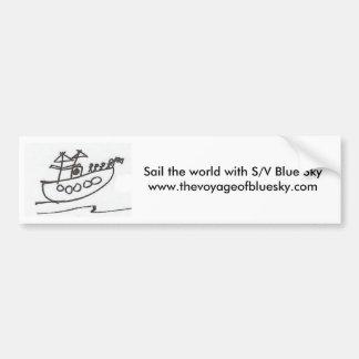 Adhésif pour pare-chocs de ciel bleu de S/V Autocollant De Voiture